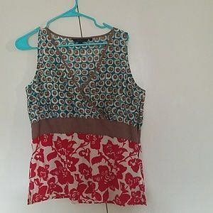 Boden retro cotton flowy tank 16 18